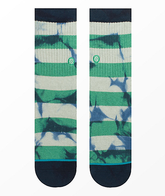 Stance Wells Boys Green Crew Socks