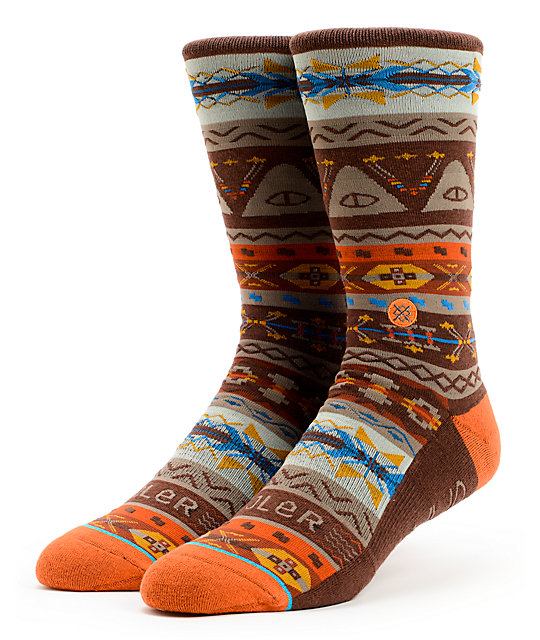 Stance x Poler Brown Socks