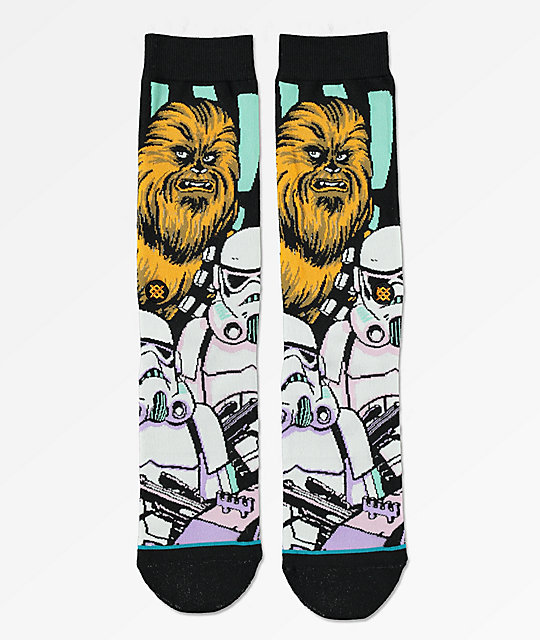 X Chewbacca Stance Warped Calcetines Wars Negros Star WH2IYED9