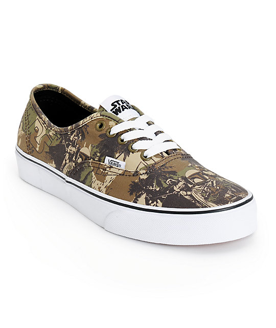 Star Wars x Vans Authentic Boba Fett Camo Skate Shoes (Mens)