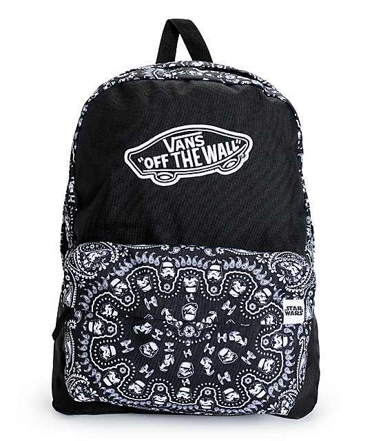 Star Wars x Vans Black Bandana Print Backpack