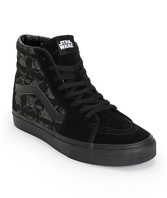 black mens vans hightop