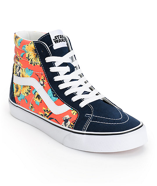 Star Wars x Vans Sk8-Hi Yoda Aloha Skate Shoes (Mens)
