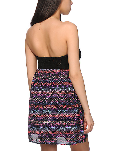 Starling Tribal Strapless Dress