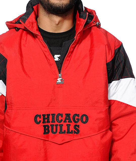 starter chicago bulls pullover jacket zumiez. Black Bedroom Furniture Sets. Home Design Ideas
