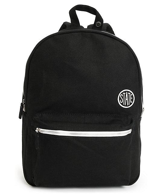 State Durham Black Laptop Backpack