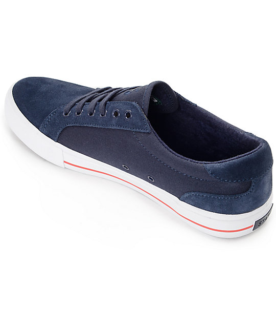 State Hudson Navy, White & Red Skate Shoes