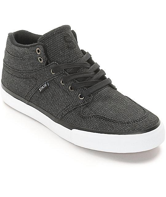 State Mercer Black Denim Skate Shoes at Zumiez : PDP