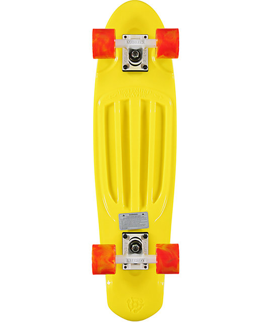 "Stereo Extended Player 27""  Yellow Cruiser Complete Skateboard"