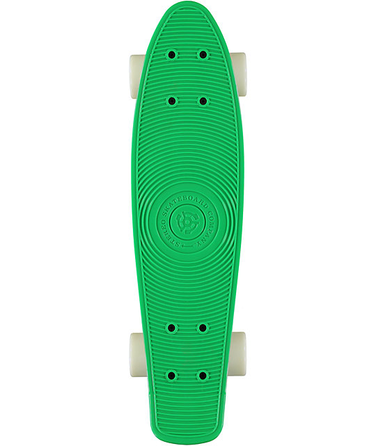"Stereo Vinyl Cruiser Green & White 22.5""  Complete Cruiser Board"