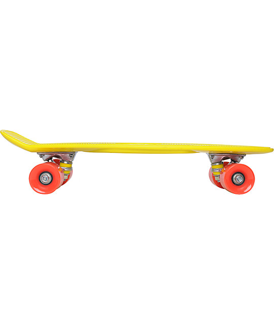 "Stereo Vinyl Cruiser Yellow 22.5""  Complete Cruiser Board"