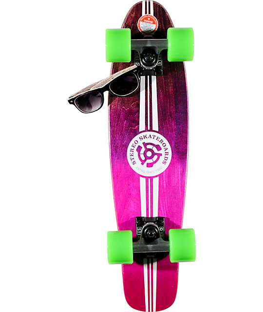 Stereo Wood Vinyl Cruiser Purple Amp Pink 22 5 Quot Complete