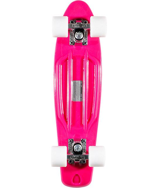 """Stereo x I Love Boobies Pink Vinyl 22.5""""  Cruiser Complete Skateboard"""