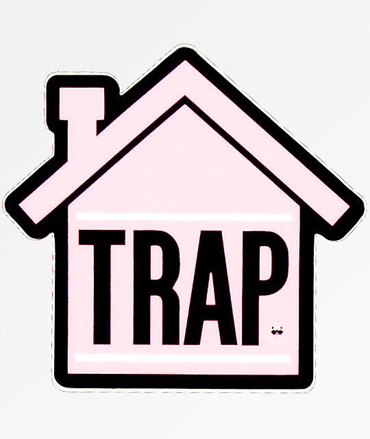 Stickie Bandits Trap Pink House Sticker Zumiez Ca