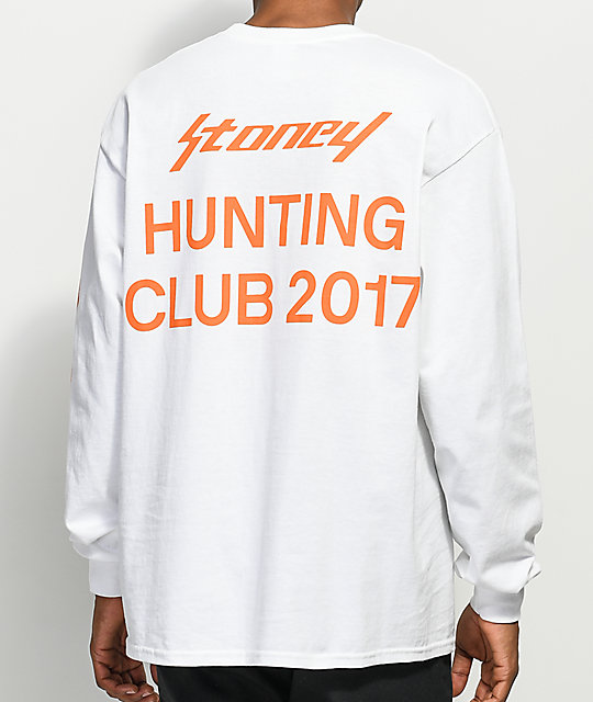 Stoney By Post Malone Hunting Club White Long Sleeve T Shirt