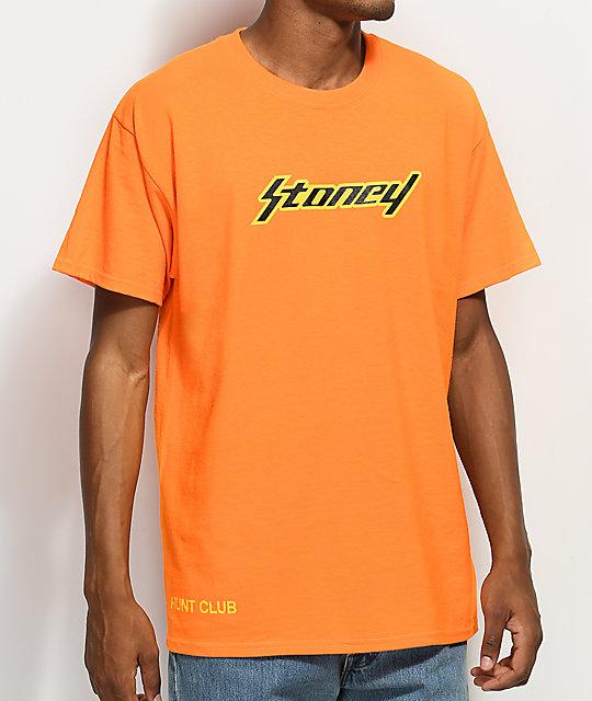 Post Malone Cleaned Up: Stoney By Post Malone Stoney Orange T-Shirt