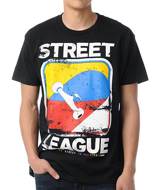 Street League Scratch Black T-Shirt