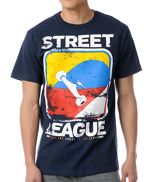 Street League Scratch Navy T-Shirt