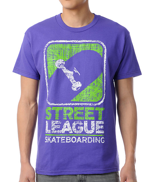 Street League Scribble Purple T-Shirt