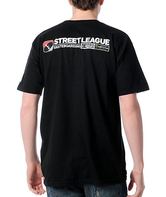 Street League Skateboarding Tour Black T-Shirt