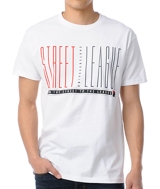 Street League Skinny White T-Shirt