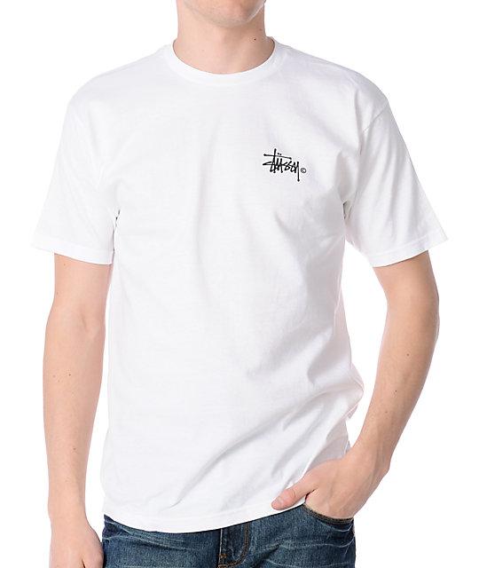 Stussy Basic Logo White T-Shirt