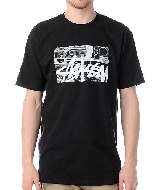 Stussy Boom Boxes Black T-Shirt