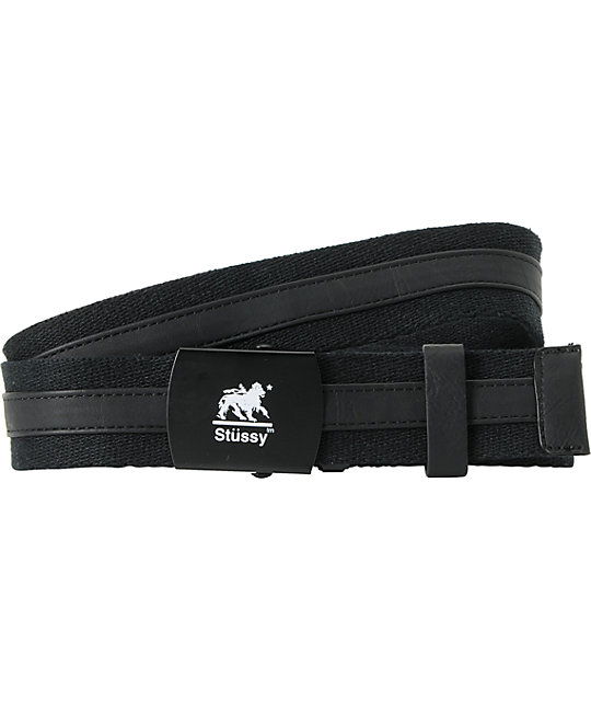 Stussy King Two Tone Black Web Belt