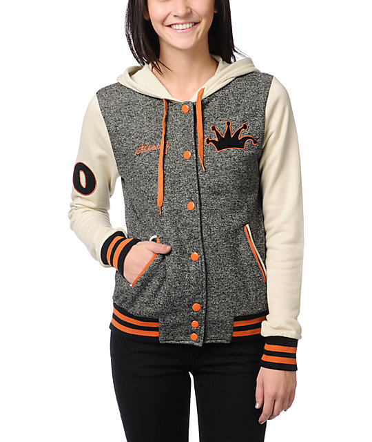 Stussy Letterman Black & Orange Varsity Hoodie