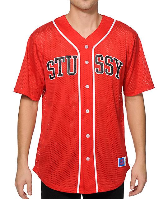 Stussy mesh baseball jersey