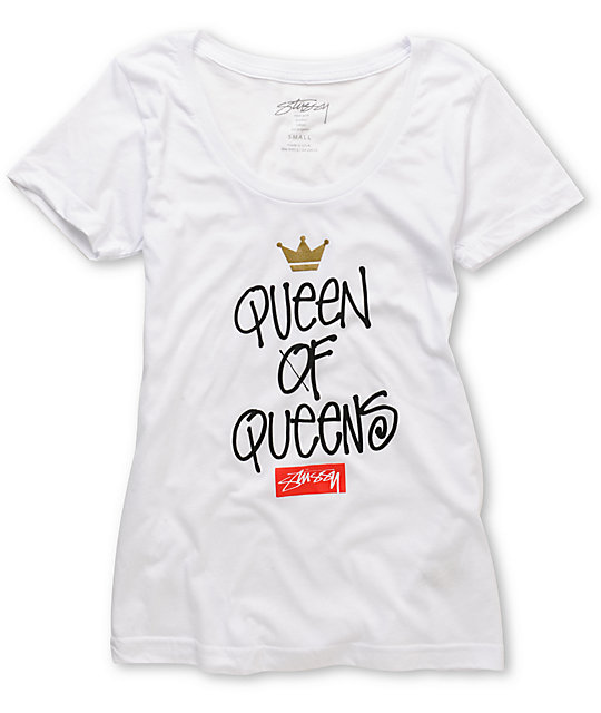 Stussy Queen of Queens White T-Shirt