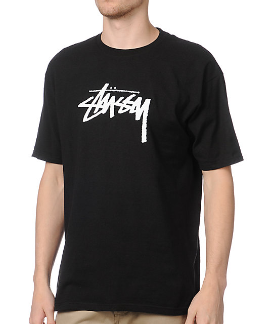 Stussy Stock Black T-Shirt