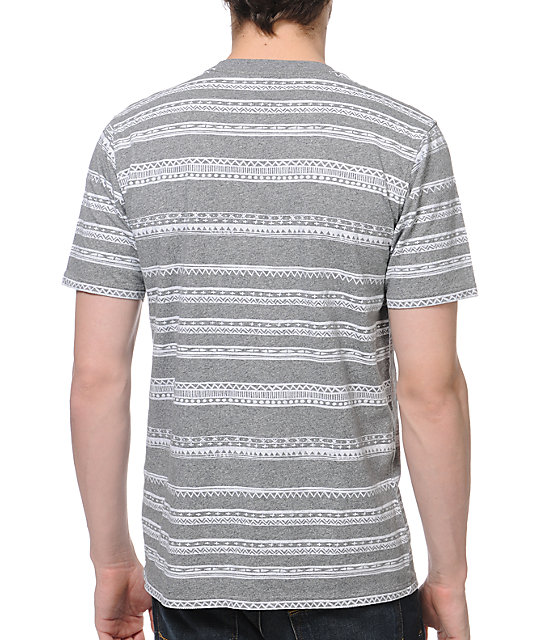 Stussy Tom Tom Grey Knit T-Shirt