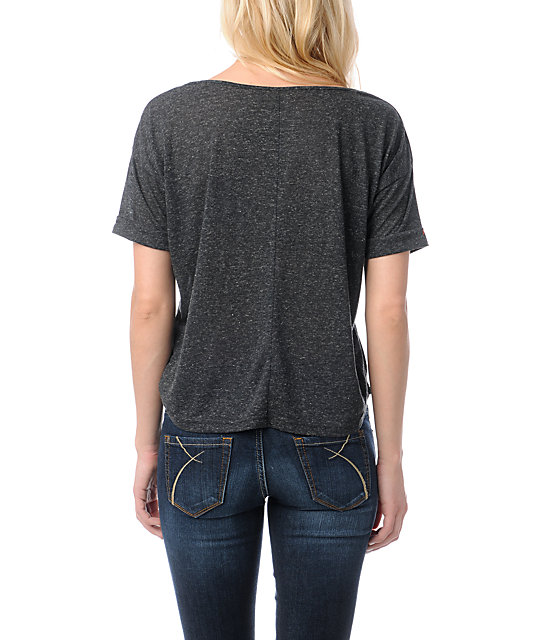 Stussy x Lovemade Trace Black Crop T-Shirt