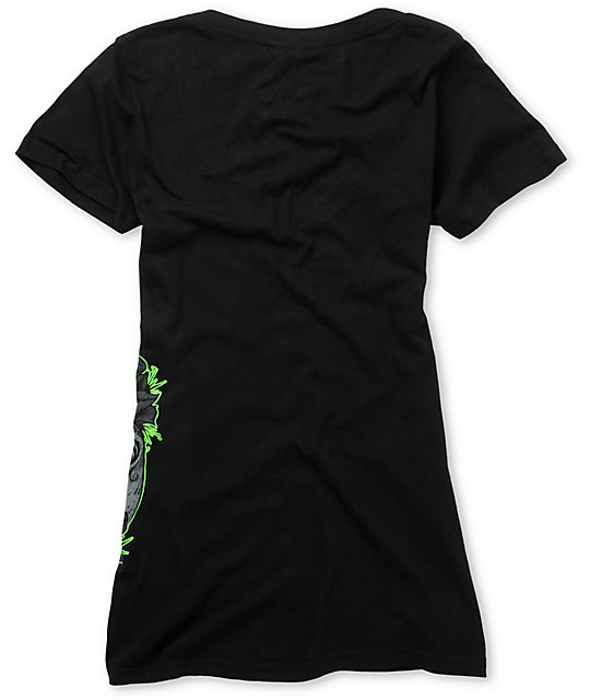 Sullen Half Gone Black V-Neck T-Shirt
