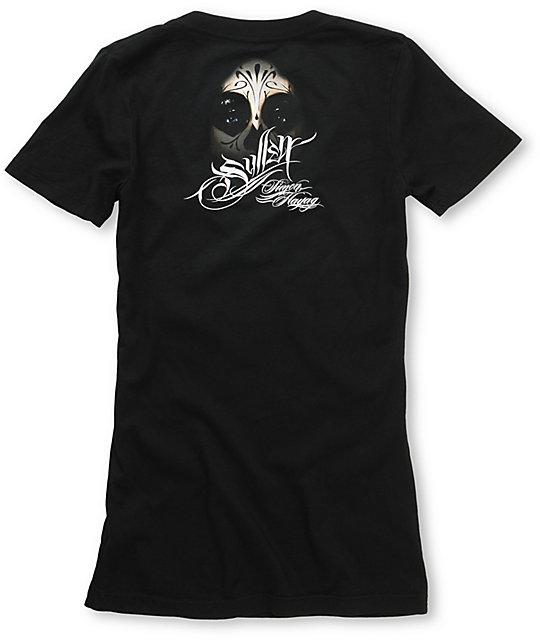 Sullen Prey Black V-Neck T-Shirt