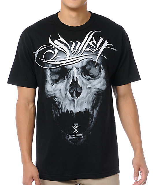 Sullen Simon x Smith Collaboration Black T-Shirt