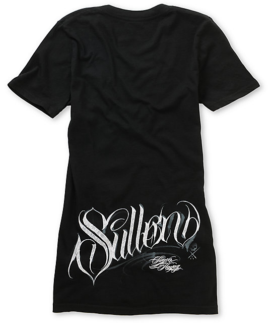 Sullen Sin City Black V-Neck T-Shirt