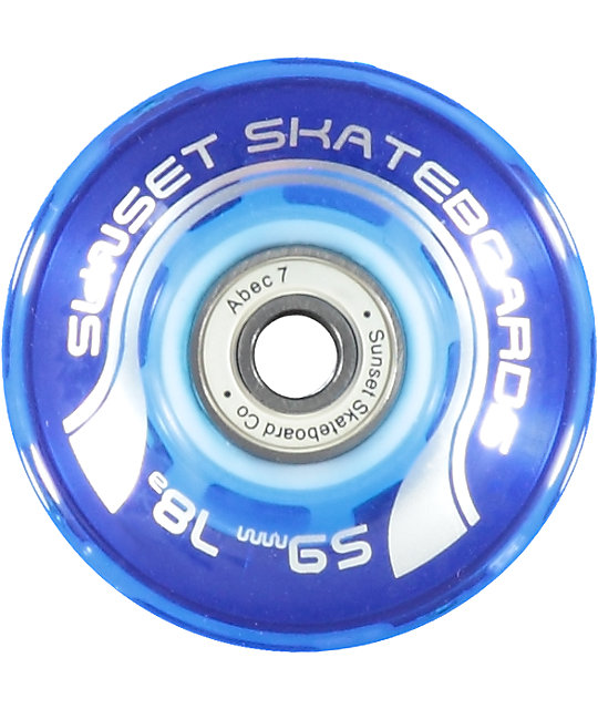 Sunset Flare 59mm ruedas cruiser azules