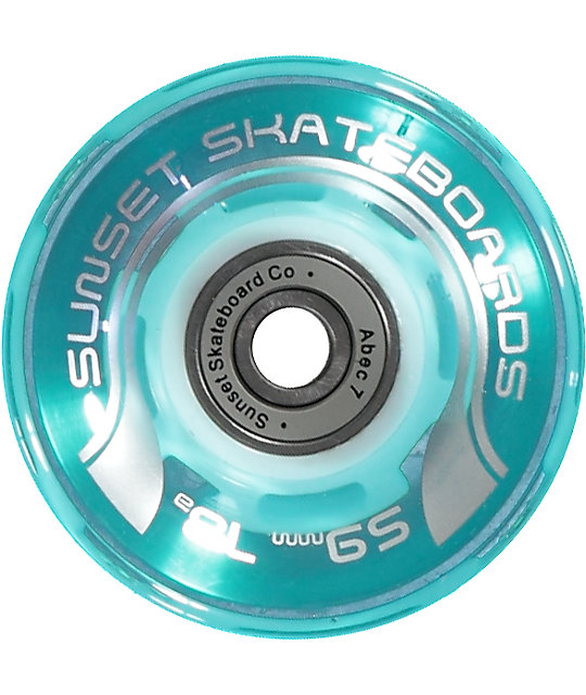 Sunset Flare Aqua 59mm LED Cruiser Wheels