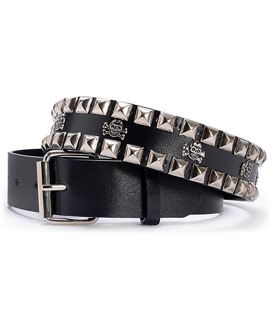 Super Trader Black Double Studded Belt