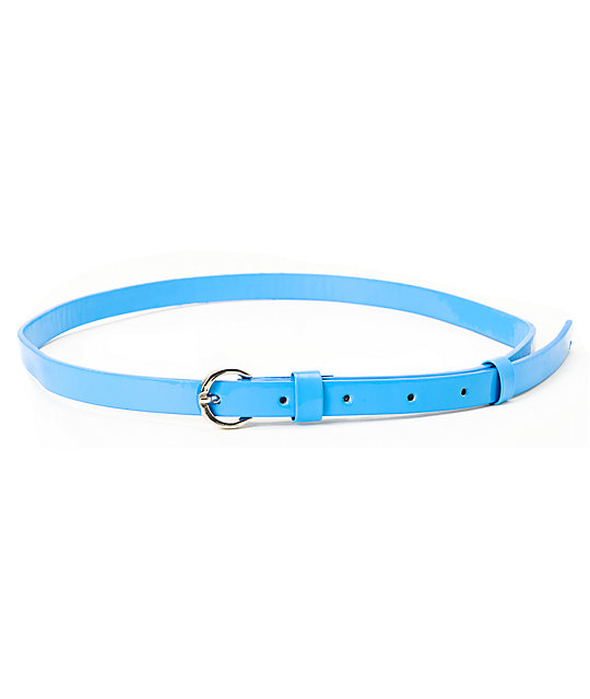 Super Trader Neon Blue Skinny Belt