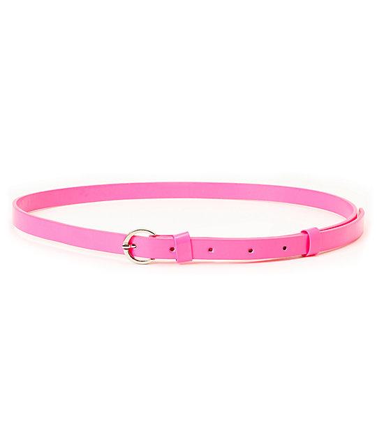 Super Trader Neon Pink Skinny Belt