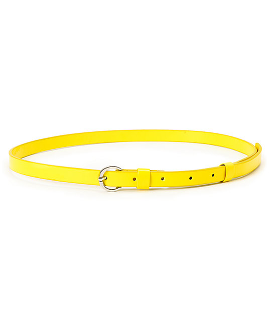 Super Trader Neon Yellow Skinny Belt