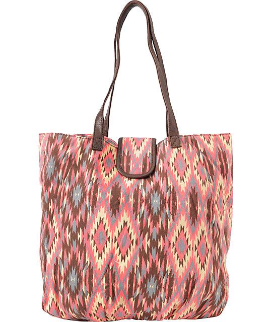 Super Trader Pink Tribal Tote Bag