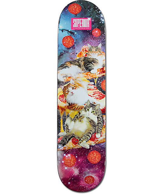 "Superior Cats In Space 7.75""  Skateboard Deck"