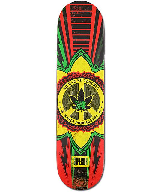 "Superior No War No Trouble 7.75""  Skateboard Deck"