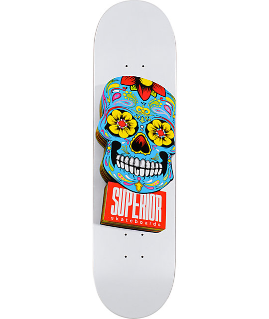 "Superior Woody White & Blue 8.1""  Skateboard Deck"