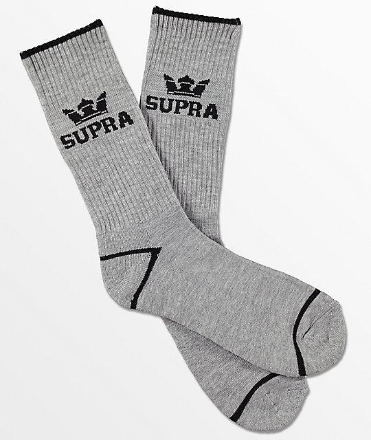 Supra  Crown Grey Crew Socks
