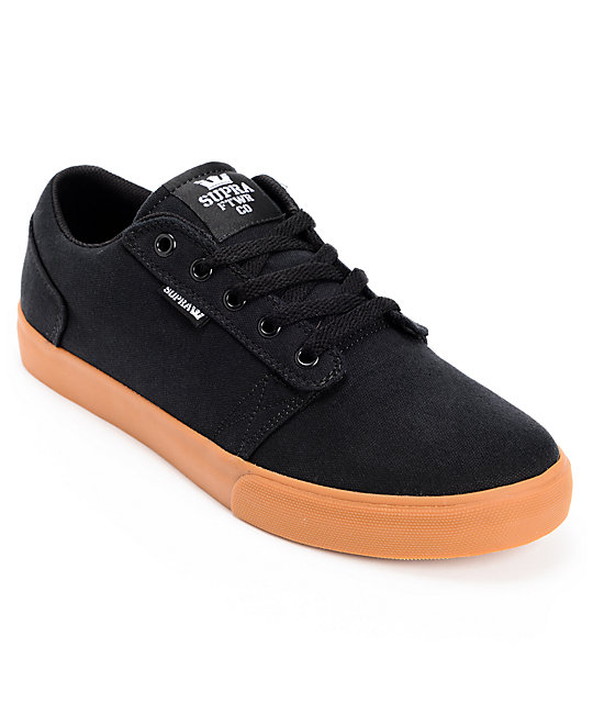 Supra Amigo Black & Gum Canvas Skate Shoes